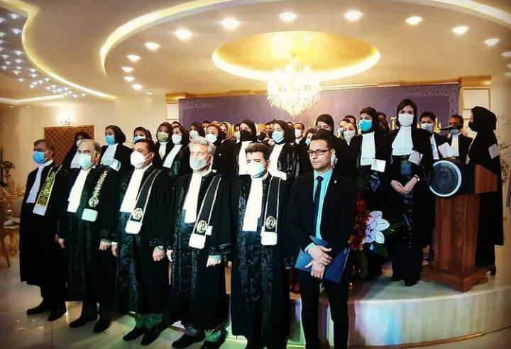 پانزدهمین آیین تحلیف کارآموزان وکالت کانون وکلای دادگستری بوشهردرتالار قصرآن شهربرگزارشد.